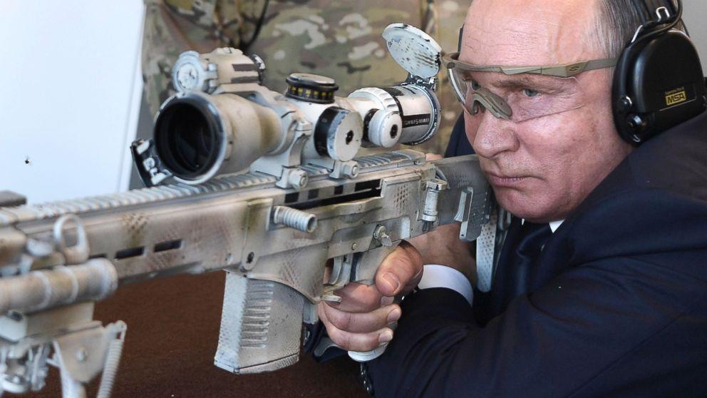 Vladimir Putin poses with new Kalashnikov sniper rifle - ABC News