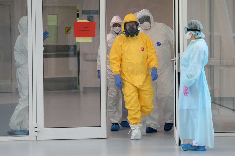 Putin Dons Hazmat Suit As Russia Admits Virus Numbers Likely Far Higher Abc News