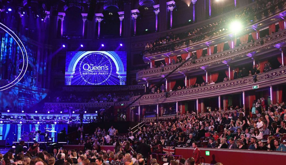 PHOTO: Audience members take their seats at the Royal Albert Hall in London, April 21, 2018, for a concert to celebrate the 92nd birthday of Britains Queen Elizabeth II.