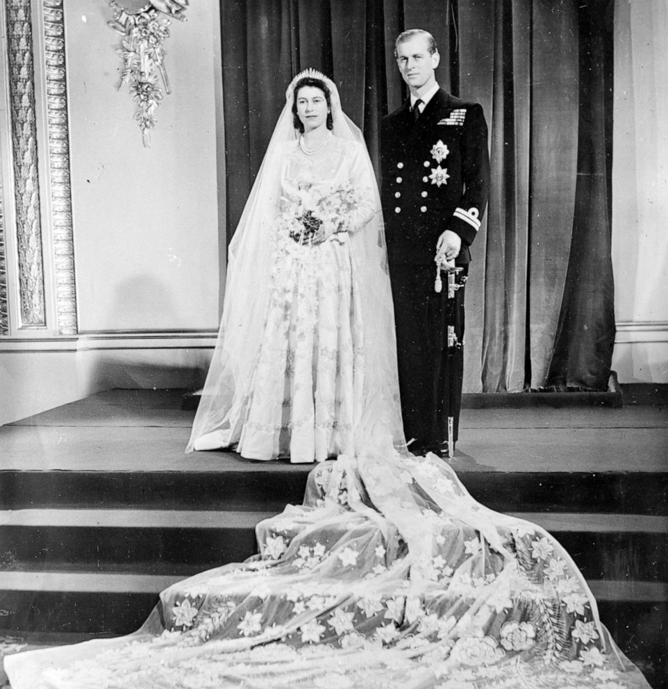 PHOTO: Princess Elizabeth and the Duke of Edinburgh pose for a photo at Buckingham Palace, London, after their wedding ceremony at Westminster Abbey, Nov. 20, 1947.