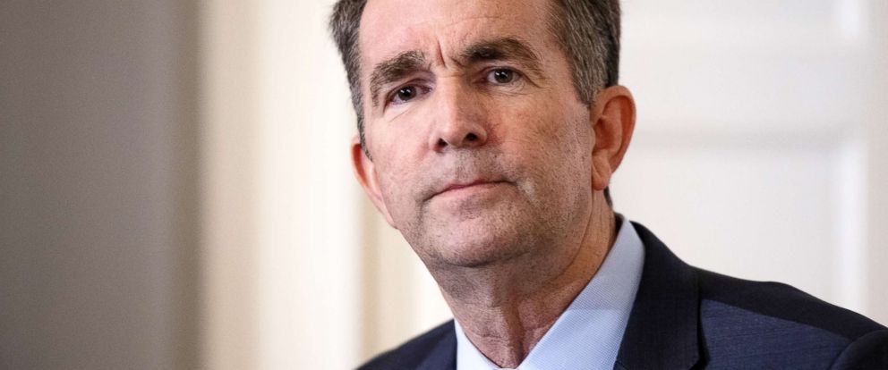 PHOTO: Virginia Governor Ralph Northam speaks with reporters at a press conference at the Governors mansion on Feb. 2, 2019, in Richmond, Va.