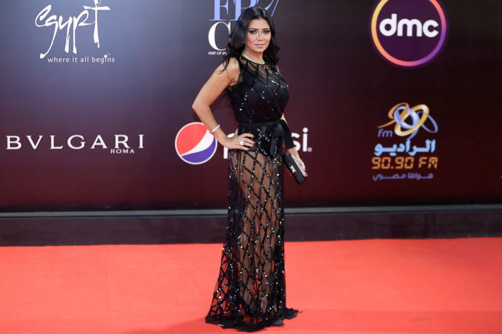 Egyptian actress Rania Youssef on the red carpet of the Cairo International Film Festival, Nov. 29, 2018.