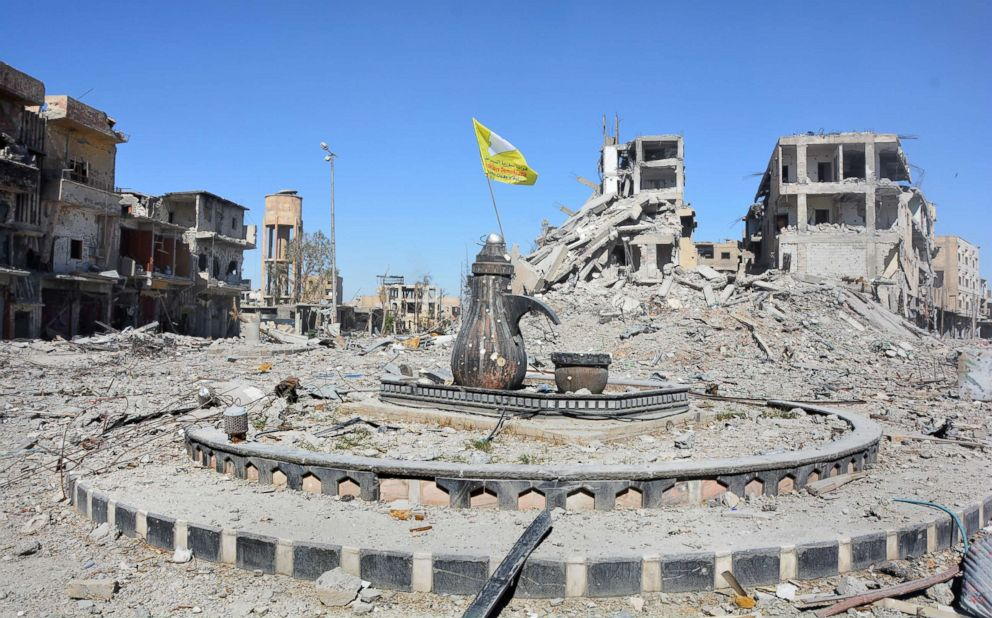 PHOTO: Naim Square roundabout following the liberation of Raqqa, Syria, Oct. 18, 2017.