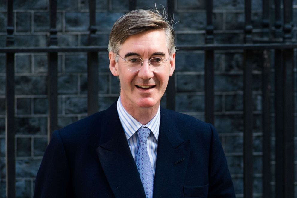 PHOTO: Lord President of the Council and Leader of the House of Commons Jacob Rees-Mogg leaves 10 Downing Street after Boris Johnsons first cabinet meeting as Prime Minister on 25 July, 2019 in London, England.
