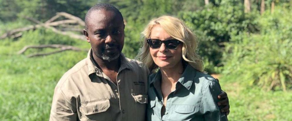 PHOTO: Jean-Paul Mirenge Remezo and Kimberly Sue Endicott at the Queen Elizabeth National Park in Uganda on April 8, 2019.