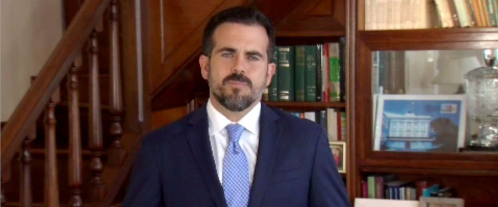 PHOTO: Puerto Rico Gov. Ricardo Rossello makes an announcement on July 21, 2019.