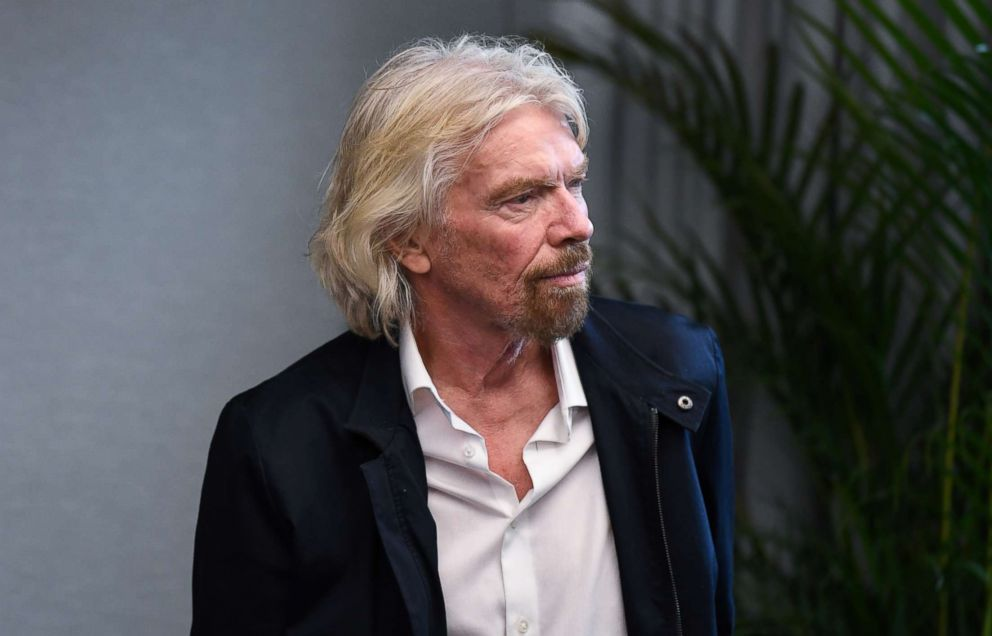 PHOTO: Sir Richard Branson waits to address an audience on Oct. 11, 2018, in Sydney.