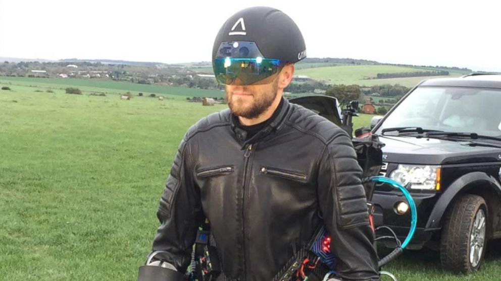 "British inventor Richard Browning is a real-life Iron Man. He recently set a new world record for the ""fastest speed in a body controlled jet engine powered suit."""