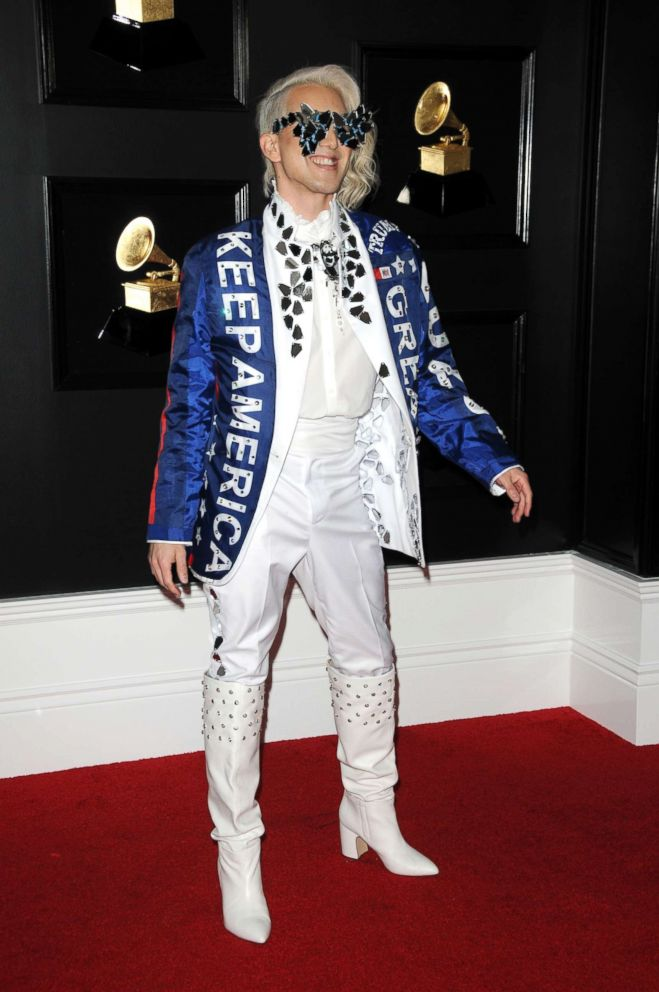 Ricky Rebel poses at the 61st Grammy Awards on Feb. 10, 2019, in Los Angeles.
