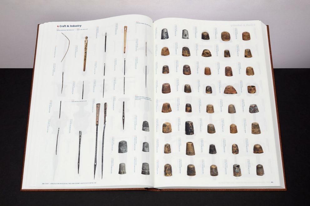 PHOTO: Pages from the project's book STUFF which catalogues and categorizes 13,000 of the objects found. The book has been distributed to all schools in the city of Amsterdam as a study tool.