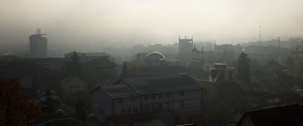 PHOTO: The city of Ramnicu Valcea in Romania.