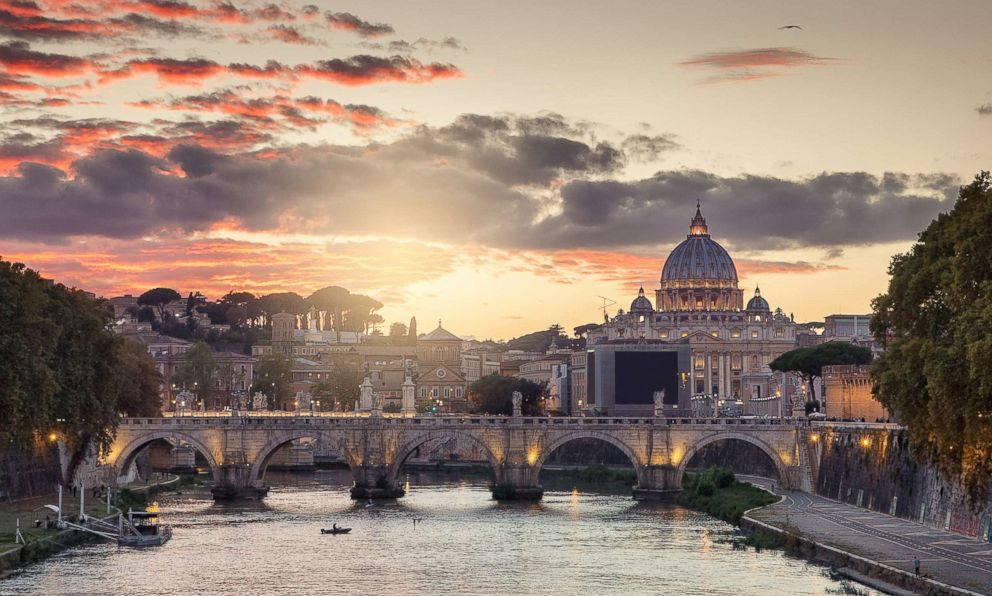 PHOTO: A view of St. Peters Basilica, Vatican City in Rome is seen at sunset in this undated stock photo.