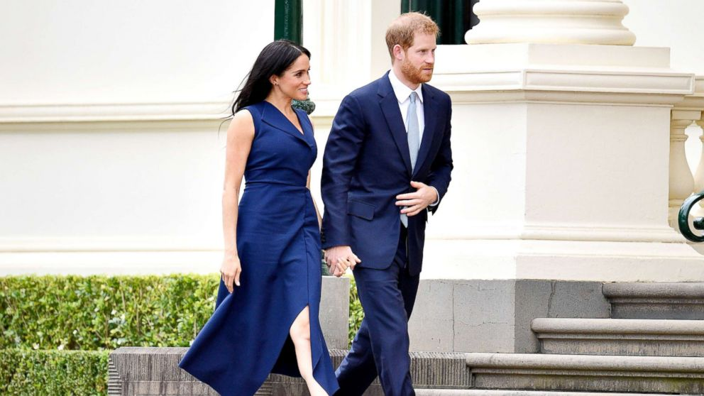 Prince Harry and Meghan Duchess of Sussex are pictured as they tour Australia, Oct. 18, 2018.