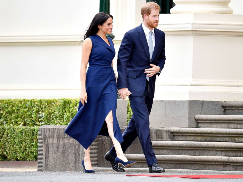 PHOTO: Prince Harry and Meghan Duchess of Sussex are pictured as they tour Australia, Oct. 18, 2018.