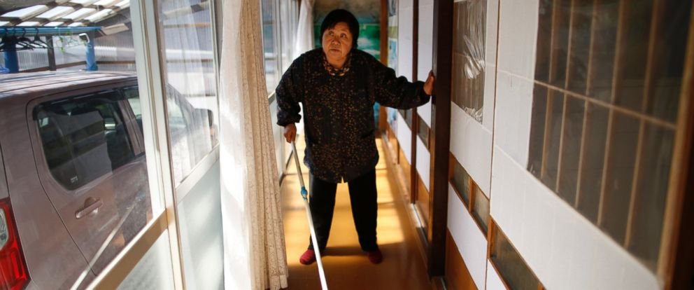 PHOTO: Kimiko Koyama, 69, was evacuated from Fukushima three years ago
