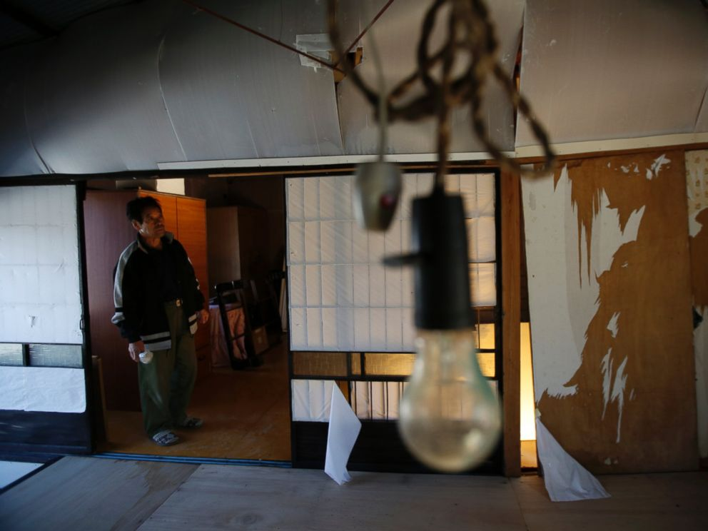 PHOTO: Toshio Koyama, 76, was evacuated from Fukushima three years ago