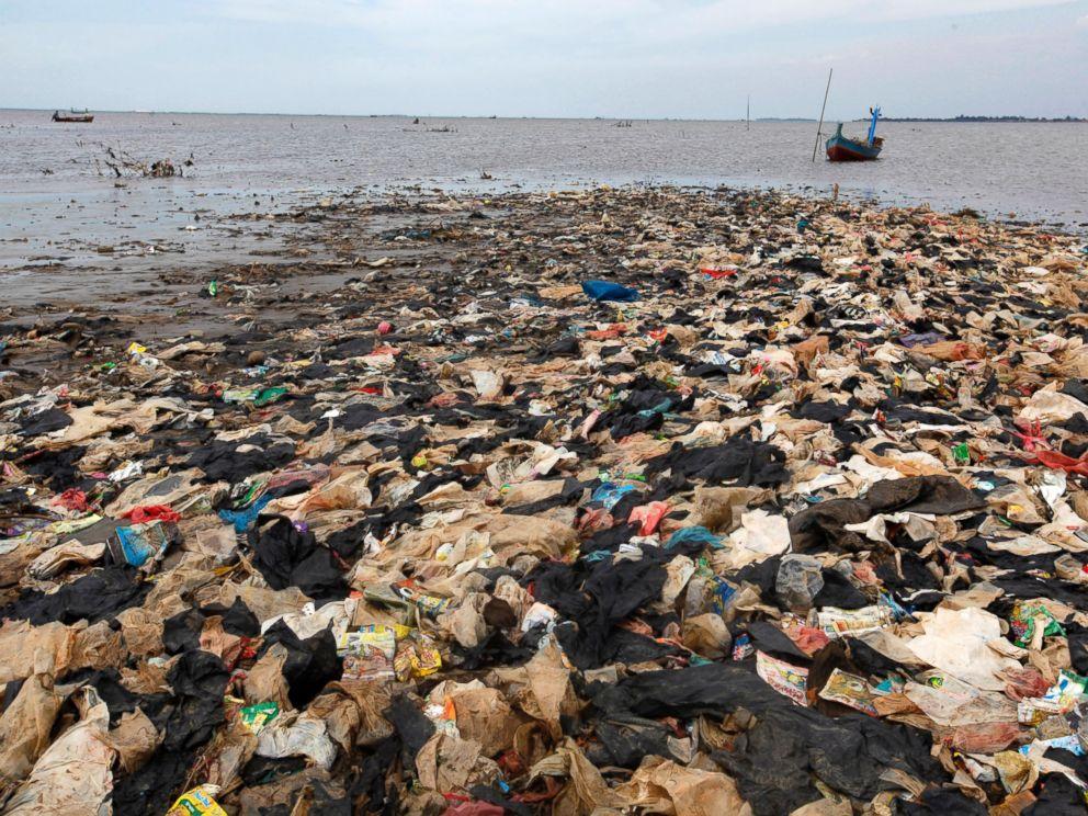 Trash On A Beach In Thailand
