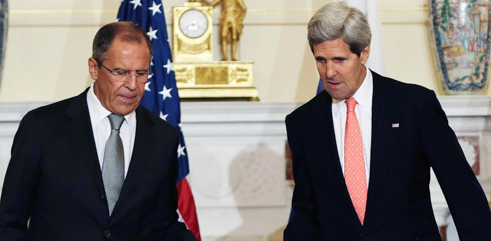 PHOTO: Sergei Lavrov and John Kerry