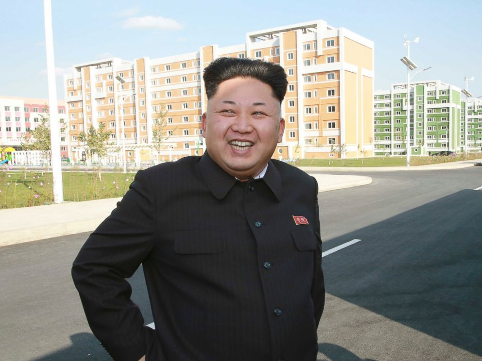 PHOTO: North Korean leader Kim Jong-un gives field guidance to the newly built Wisong Scientists Residential District in this undated photo released by North Koreas Korean Central News Agency in Pyongyang, Oct. 14, 2014.
