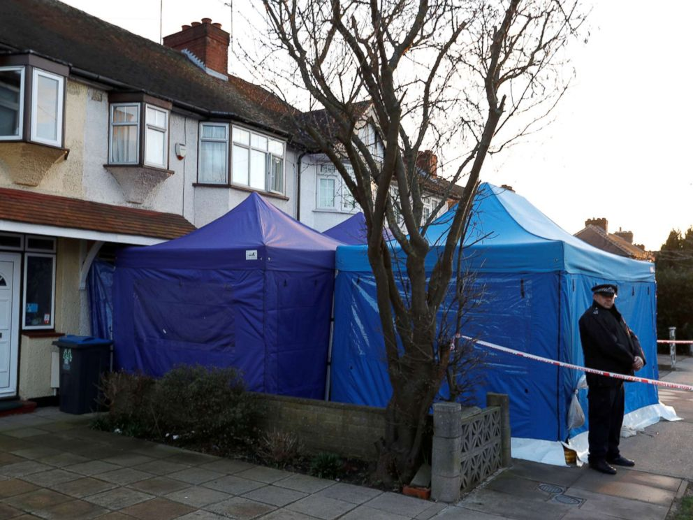 PHOTO: A police officer stands guard outside the home of Nikolai Glushkov in New Malden, Britain, March 13, 2018.
