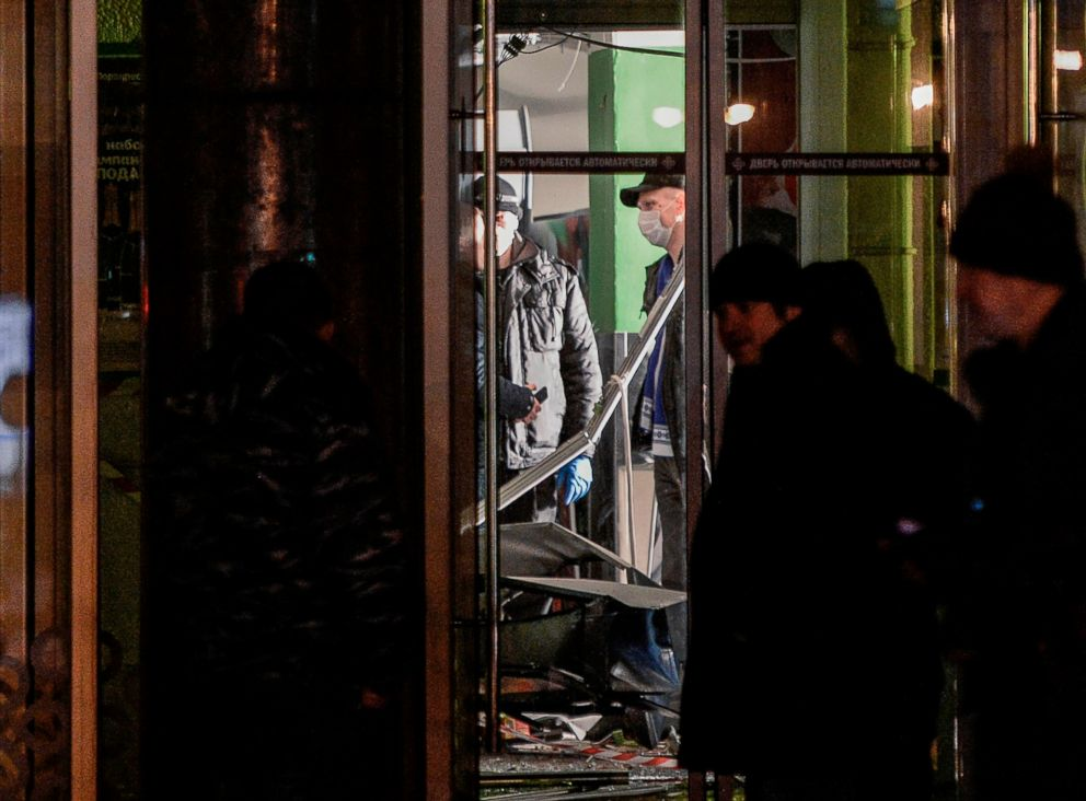 PHOTO: Investigators work at the site of a blast in a supermarket in Saint Petersburg, Russia on December 27, 2017.
