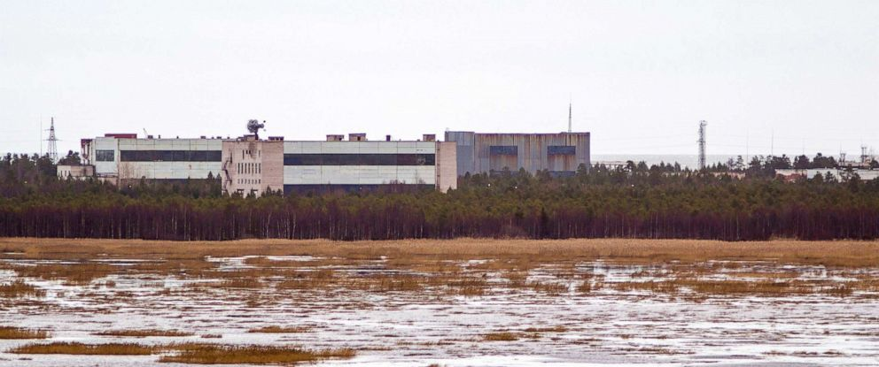 PHOTO: A 2011 photo shows buildings at a military base in the small town of Nyonoska in Arkhangelsk region where an explosion happened in August 2019.