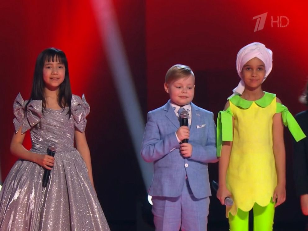 PHOTO: Contestants appear on the finale episode of the Russian singing competition show, The Voice Kids, April 26, 2019.