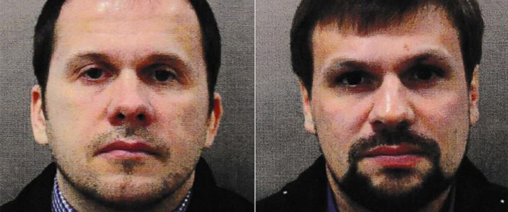 PHOTO: Alexander Petrov and Ruslan Boshirov are seen in this undated photo released by Metropolitan Police.