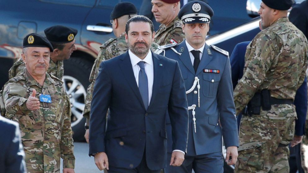 Saad al-Hariri, who announced his resignation as Lebanon's prime minister from Saudi Arabia arrives to attend a military parade to celebrate the 74th anniversary of Lebanon's independence in downtown Beirut, Lebanon, Nov. 22, 2017.
