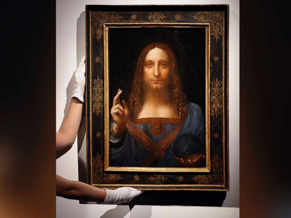 PHOTO: Leonardo da Vincis Salvator Mundi is seen on display at Christies auction rooms in London on Oct. 24, 2017.