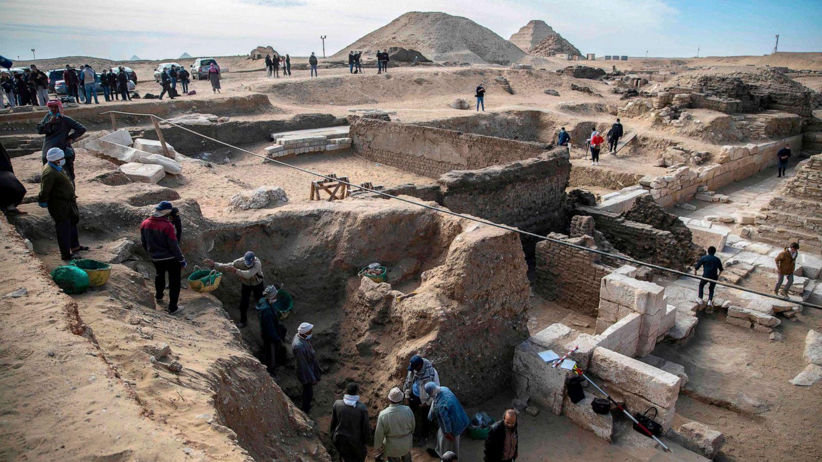 Egypt Unlocks More Secrets In Saqqara With Discovery Of Temple Sarcophagi Abc News
