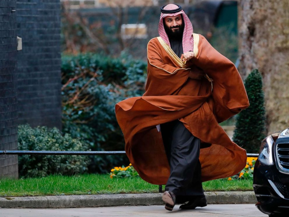 PHOTO: Saudi Arabias Crown Prince Mohammed bin Salman arrives for talks at 10 Downing Street, in central London, March 7, 2018.