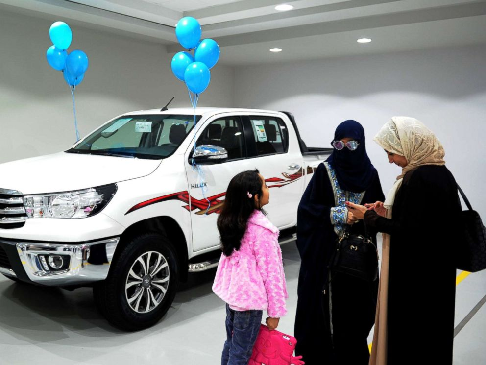 PHOTO: Saudi women tour a car showroom for women on Jan. 11, 2018, in the Saudi Red Sea port city of Jeddah.