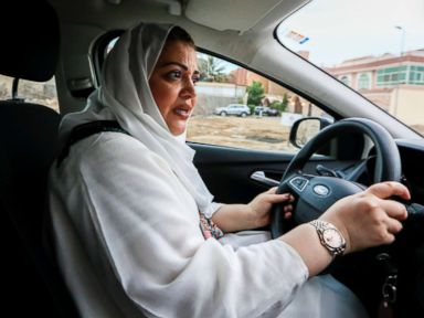 Saudi Women Get Behind The Wheel Of A Car For The First Time In History Abc News