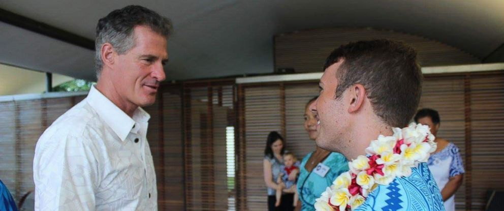 PHOTO: Scott Brown, the U.S. ambassador to New Zealand and Samoa, attends a July event in Samoa celebrating the 50th anniversary of the Peace Corps in the island nation.