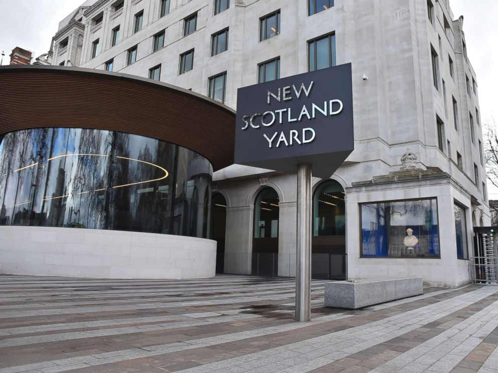 PHOTO: New Scotland Yard headquarters is pictured in central London, on March 27, 2018.