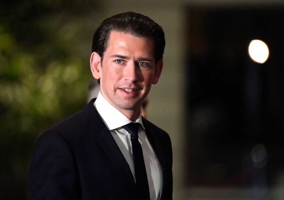 PHOTO: Austrian Chancellor Sebastian Kurz arrives at Japanese Prime Minister Shinzo Abes official residence before his meeting in Tokyo, Feb. 15, 2019.