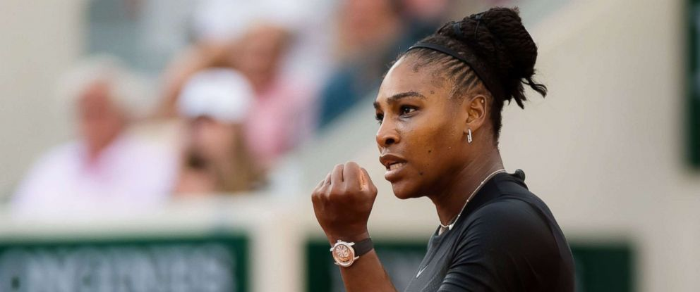 PHOTO: Serena Williams during her third-round match at the French Open tennis tournament, Roland Garros, Paris, June 2, 2018.