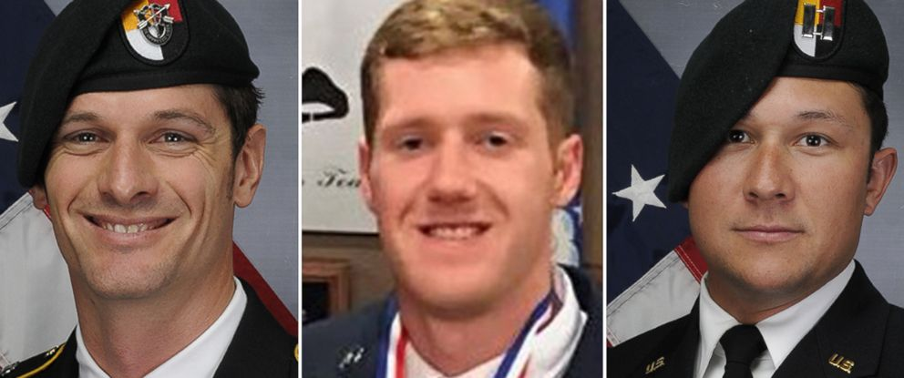 PHOTO: The Department of Defense has identified the three service members killed by a roadside bomb in Afghanistan, Nov. 27, 2018.