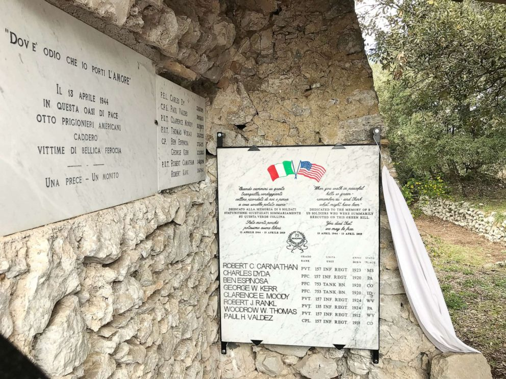 PHOTO: The new commemorative plaque unveiled today at the Hermitage of Saint Benedict at Montebuono, Italy.