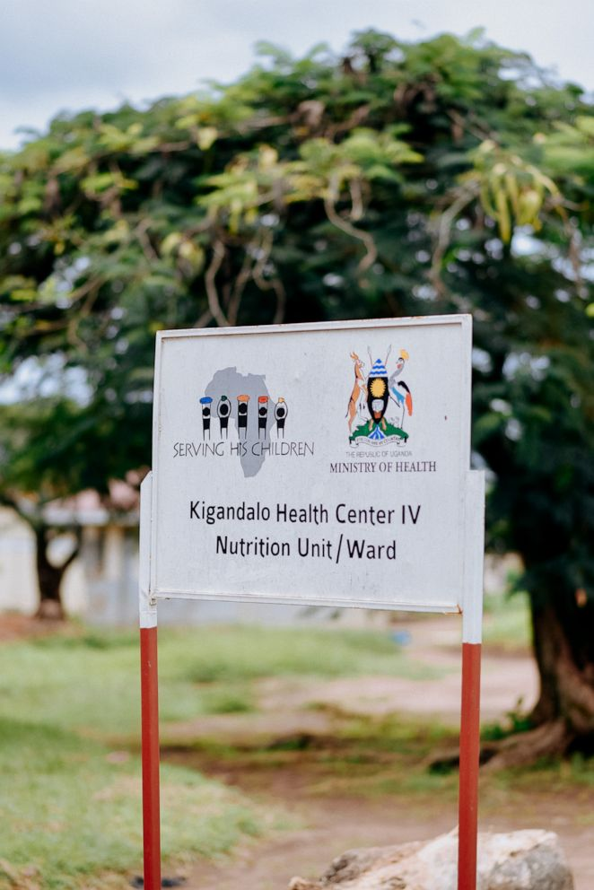 PHOTO: A sign for the nutrition unit run by Serving His Children in partnership with Ugandas Health Ministry at the Kigandalo Health Center IV, Mayuge district, Uganda, May 2018.