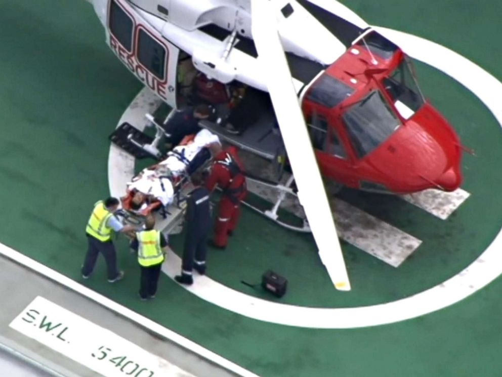 PHOTO: Alejandro Travaglini, 37, was taken to Perth Royal Hospital after a shark attack near Gracetown in Western Australia, April 16, 2018.