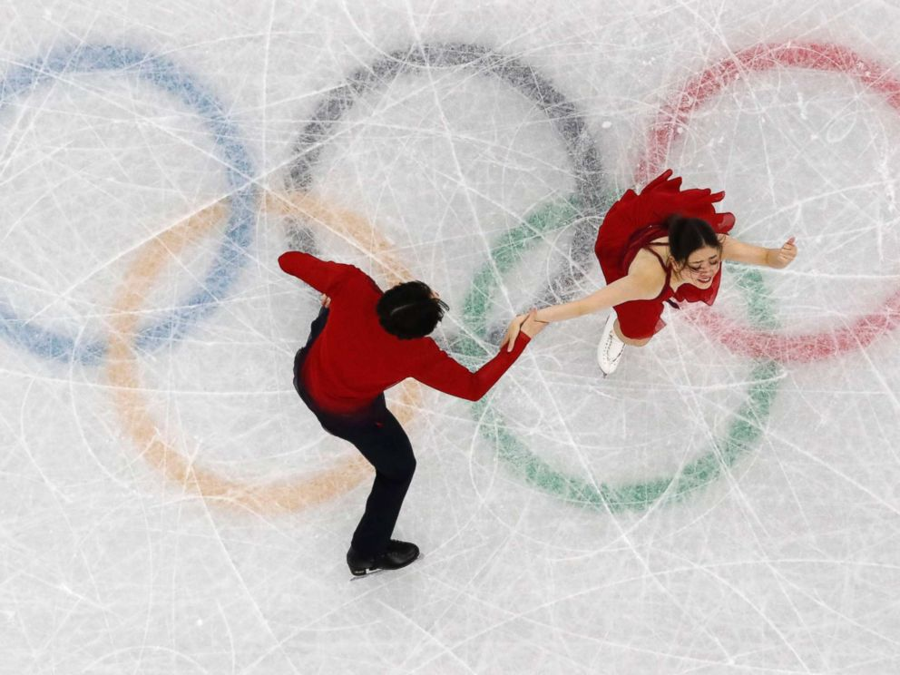 PHOTO: Americans Maia Shibutani and Alex Shibutani perform during the Pyeongchang 2018 Winter Olympics, Feb. 20, 2018, in Gangneung, South Korea.