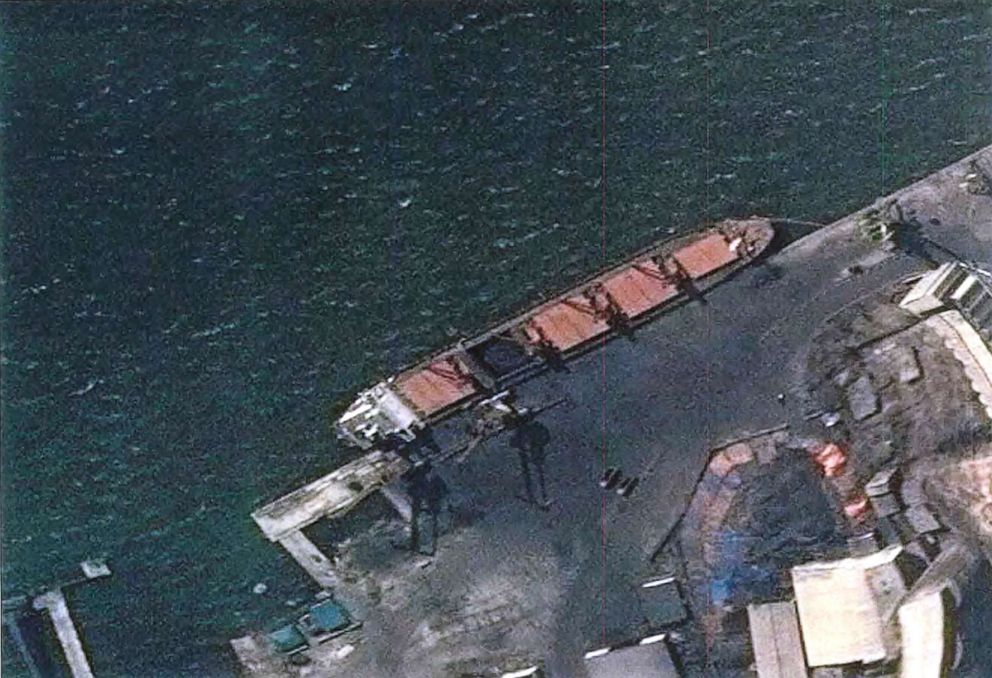 USA  seizes North Korean cargo ship