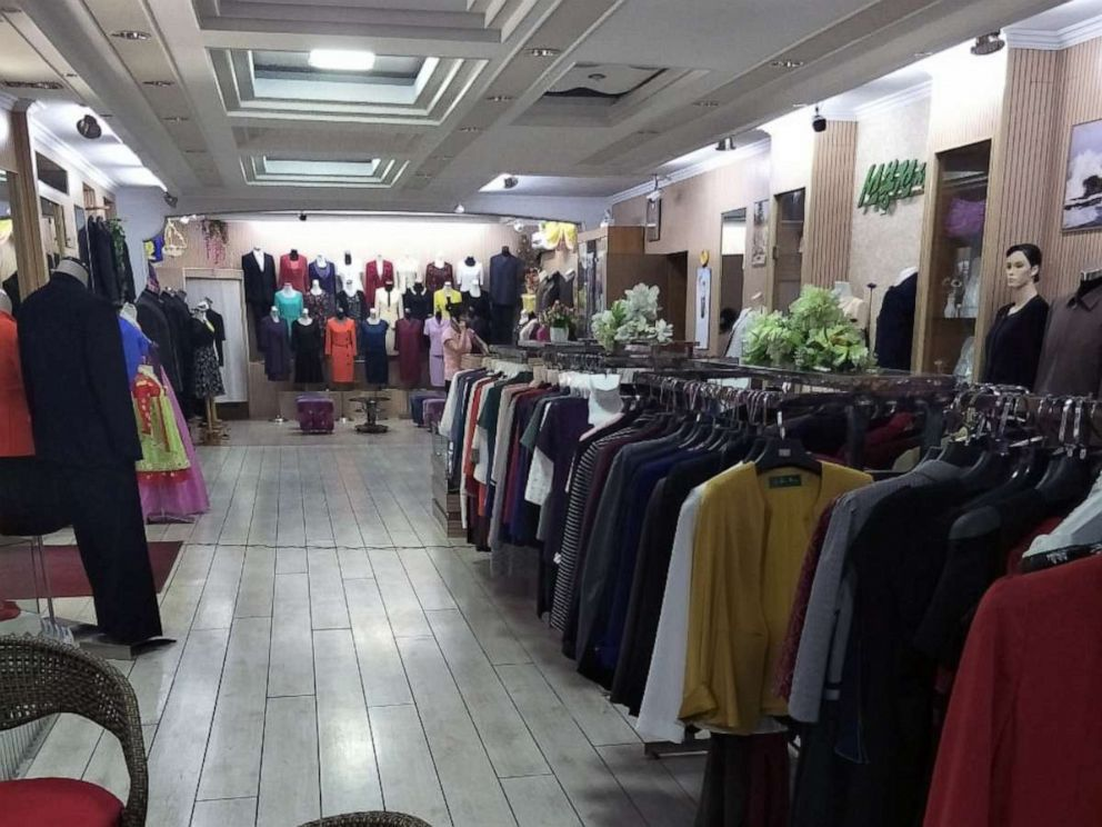 PHOTO: The Korea Sonbong Exhibition Centre clothes shop, reserved for North Koreas elite, in Pyongyang on June 5, 2018.