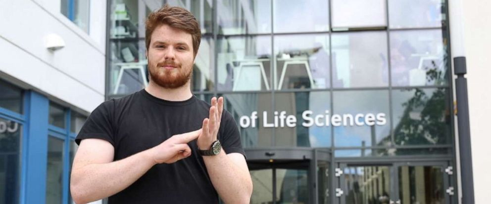 PHOTO: Liam McMulkin created more than 100 new signs for scientific terms to help himself and future students using British Sign Language.