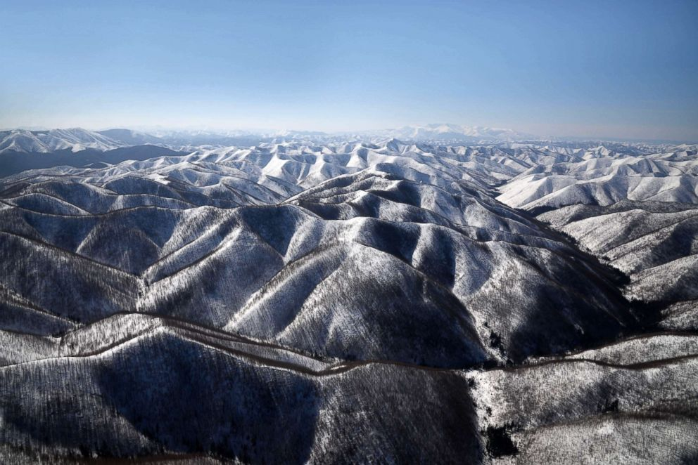 PHOTO: The Sikhote-Alin is a mountain range in Khabarovsk Territory, Russia, extending about 560 miles to the northeast of the Russian Pacific seaport of Vladivostok.