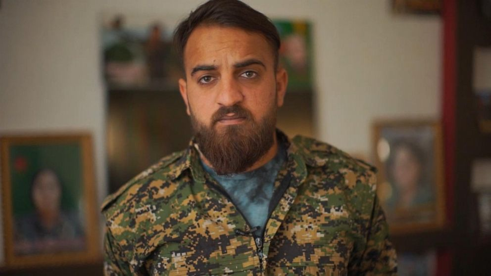 PHOTO: Sozdar Bawers mission to defeat ISIS is one her family is carrying on. Her brother, Simko, is also a leader in the YPG.