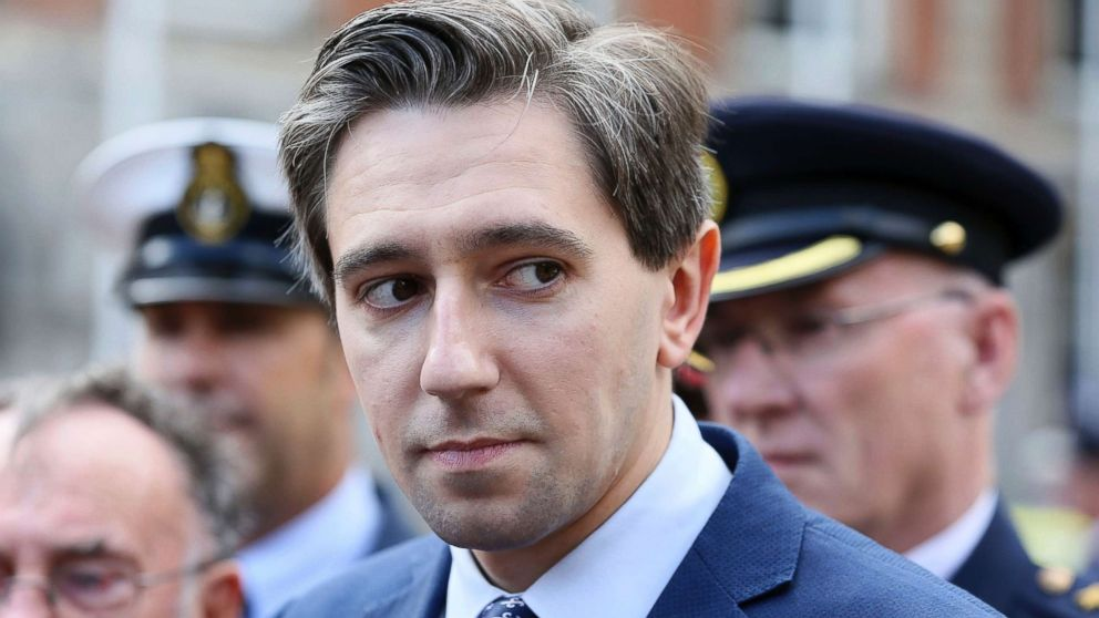 Minister for Health Simon Harris at the launch of a new national day to recognize the unsung heroes from frontline and emergency services at Dublin Castle, Aug. 29, 2018.