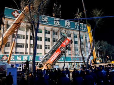 Sinkhole swallows bus in China, killing 6 and injuring 16
